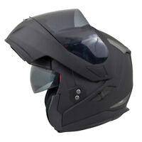 MT Flux Flip Up Front DVS Motorbike Motorcycle Helmet - Matt Black