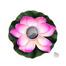 LED Solar Power RGB Lotus Pond Floating Light Garden Swimming Pool Decor Lamp