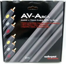 Audioquest AV-A RCA Audio + video  Cable 2 meter  3 RCA to 3 RCA