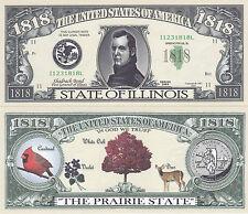 50 Illinois Il Patriotic Novelty Money Bills Lot