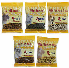 Antos Mini Bones Dog Training Treats ~ 5 x 200g Bags ~ 5 x Different Flavours
