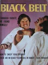 RARE 7/71 BLACK BELT BOB DUNEK  GOSEI YAMAGUCHI KARATE KUNG FU MARTIAL ARTS