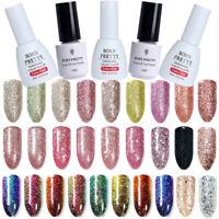 5/10ML Glitter Sequins UV LED Gel Nail Polish Soak Off Base Top Coat BORN PRETTY
