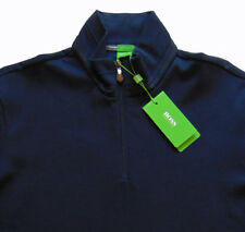 Men's HUGO BOSS Navy Blue Zip Cotton + Pullover Sweater L Large NWT NEW $185
