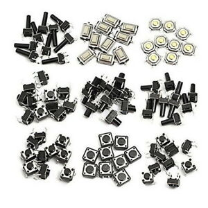 140pcs 14 Types Momentary Tact Tactile Push Button Switch SMD SMT Surface Mount