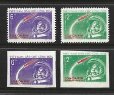 SALE! VIETNAM COMPLETE PERF & IMPERFORATE STAMP SET SCOTT #160 - 61 MNH GAGARIN