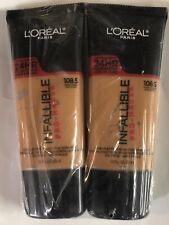 Lot of 2, Loreal Infallible Pro-Matte Foundation, 108.5 Honey Bisque