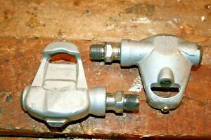 """Vintage Sampson Japan Grey 9/16"""" Spindle Clipless Road Bike Cycling Pedals nice"""
