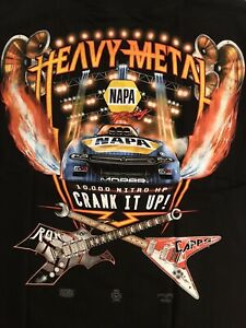 """NHRA DRAG RACING """"HEAVY METAL"""" RON CAPPS T- SHIRT  SIZE SMALL"""