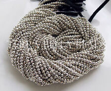 "13"" strand silver coated PYRITE faceted gem stone rondelle beads 2mm - 2.5mm"