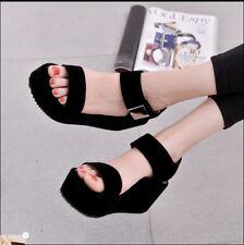 Women Wedge Sandals High Heels Korean Girl Summer Casual Flat Platform Shoes New