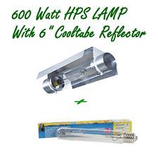 "600W HPS HIGH PRESSURE SODIUM LAMP & 6"" COOLTUBE REFLECTOR HYDROPONIC COOL TUBE"