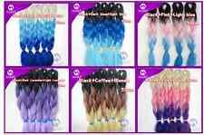 "3 Colors Kanekalon Jumbo Braiding Synthetic Hair Extension Twist Braids 24"" 100g"