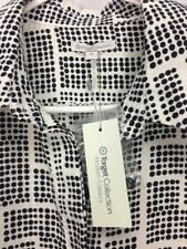 ** TARGET COLLECTION ** BNWT $39 * Sz 20 White Black Dot Corporate Shirt -(A911)