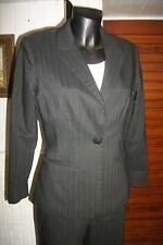 tailleur Pantalon/blazer MARINA RINALDI MAX MARA 19 36/38f noir rayé large AM A2