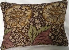 """Oblong Piped Cushion Cover William Morris Kennet Linen Both Sides 17"""" X 12"""""""