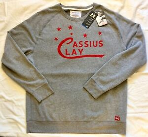NWT Under Armour Roots Of Fight CASSIUS CLAY Sweatshirt 2XL Muhammad Ali RARE