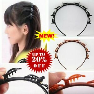 Double Bangs Hairstyle Hair Clips Bangs Hair Band Hairpins Headband with Clips