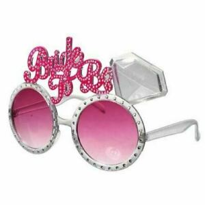 BRIDE TO BE GLASSES HEN NIGHT PARTY ACCESSORIES PARTY BAG FAVOURS