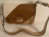 $328 New MICHAEL KORS LG SHLDR LEATHER BTRN/LTC/ACR Signature Women's Handbag