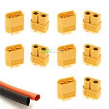 5 X di RC xt60 PAIR Lipo Batteria Connettori e calore Strizzacervelli AEREO ELICOTTERO Quad