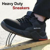 Men Heavy Duty Sneaker Safety Work Shoes Anti-slip Puncture Proof Athletic Shoes