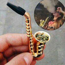 Saxophone Shape Mini Portable Smoking Pipes Metal Pipe Smoking Accessories