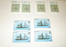 1980's LOT of 8 Unused STAMPS BERMUDA EARLY RISER & 1989 50c TWO PENCE POSTAL