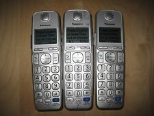 Lot of 3 Panasonic Kx-Tgea20 Dect 6.0 Cordless Expansion Handset Phone