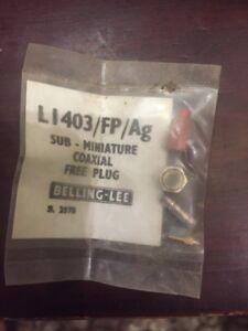 Sub Miniture Coaxial Plug Belling Lee Li403/fp/ag