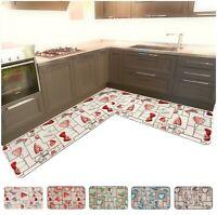 Tappeto cucina ANGOLARE o PASSATOIA SU MISURA al metro antiscivolo mod.CHALET16