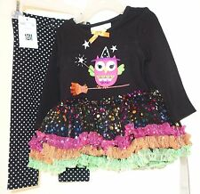 BNWT ~  Bonnie Baby Owl On A Broomstick Halloween Outfit ~ Girl's 18 Month