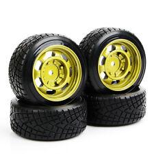 4PCS  6mm Offset Treaded Tires & Wheel RimFor 1/10 HPI Drift RC Car Hard Plastic