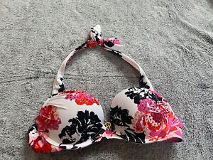Victoeia's Secret Floral Padded Swimsuit Top Size 34B