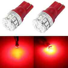 Alla Lighting 2x T10 Xtremely Super Bright Red LED Lights Bulbs 194 168 2825 W5W