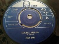 "JOAN BAEZ * FAREWELL ANGELINA * 7"" FONTANA SINGLE VERY GOOD 1965"