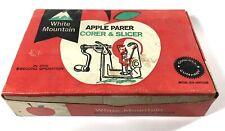 VINTAGE White Mountain Apple Parer Corer & Slicer in original BOX