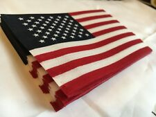 """Lot of 25 American Flags 4"""" x 6"""" No Fray Cotton Fabric Quilting USA Veterans Day"""