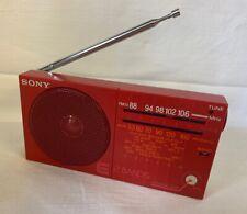 Sony ICF-12 Radio 2 Band red/rot Antennenhalterung/Ständer leicht defekt