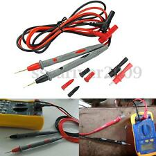 20A Probe Test Lead & Alligator Clips Clamp Cable Agilent/Fluke/Ideal Multimeter