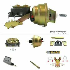 "60-62 Chevy P/U Truck Manual Trans FW Mount Power 8"" Dual Booster Kit Disc/Disc"