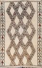 Vintage Tribal Geometric Moroccan Oriental Area Rug Hand-knotted Home Decor 6x8