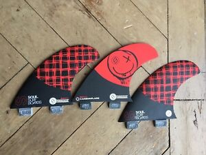 Shapers Fins - Carbon Thruster Soul Surfboards MGXI Retail £80 Save ££££'s
