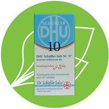 Schüßler Salz Nr.10 Natrium sulfuricum D6 DHU Globuli PZN 10545953