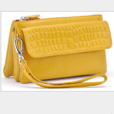 Womens Lady Leather Wristlet Clutches mobile Multifunction Shoulder Bags Wallet