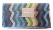 "MISSONI HOME BATH TOWEL CHEVRON COLLECTION BRANDED PACK PETE 170 VELOUR  24x39"""