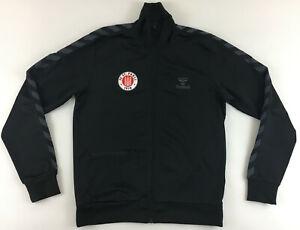 FC St. Sankt Pauli Hummel schwarze Jacke Tracksuit Track top jacket black Large