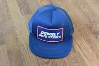 Vintage Downey Auto Stores Trucker Cap Hat Snapback