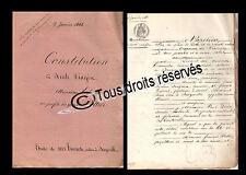 9 JANVIER 1861 CONSTITUTION DE RENTE VIAGERE MR LALONDE ET EPOUX POTTIER EURE