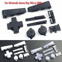 Para Games Game Boy Micro GBM Full Buttons D-pad L R A B on off Set Recambios